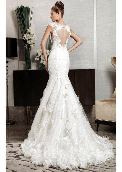 VN224 - Vestido em Renda - Sereia - Decote Lindo nas Costas - Ascot - Intuzuri