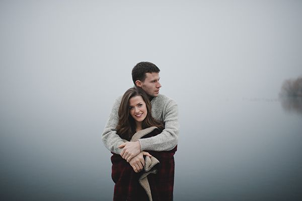 Foggy Engagement at the Docks - Inspired By This