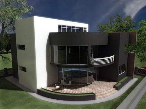 Modern House plans with photos-pictures. House CA08.