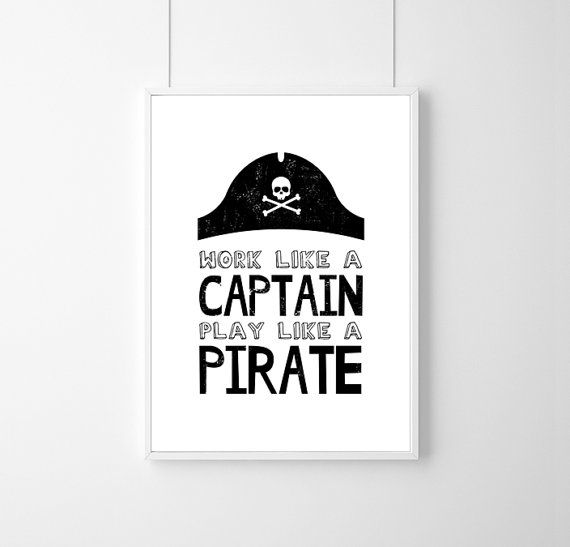 Poster work like a captain play like Wall by WeJustLikePrints