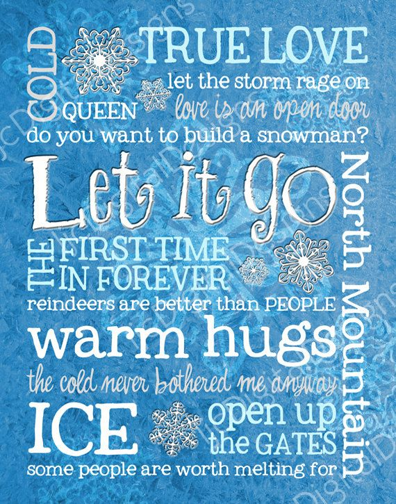 Frozen Inspired Quotes Fan Art Subway Art Printable by ljcDigitalDesigns, $5.00