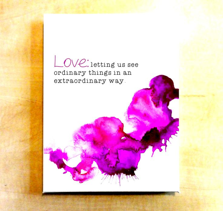 There are heaps of quotes about LOVE out there...but this one of my favourites! I love the use of typography within a design. This portrait features the 2014 pantone colour of the year Radiant Orchid.