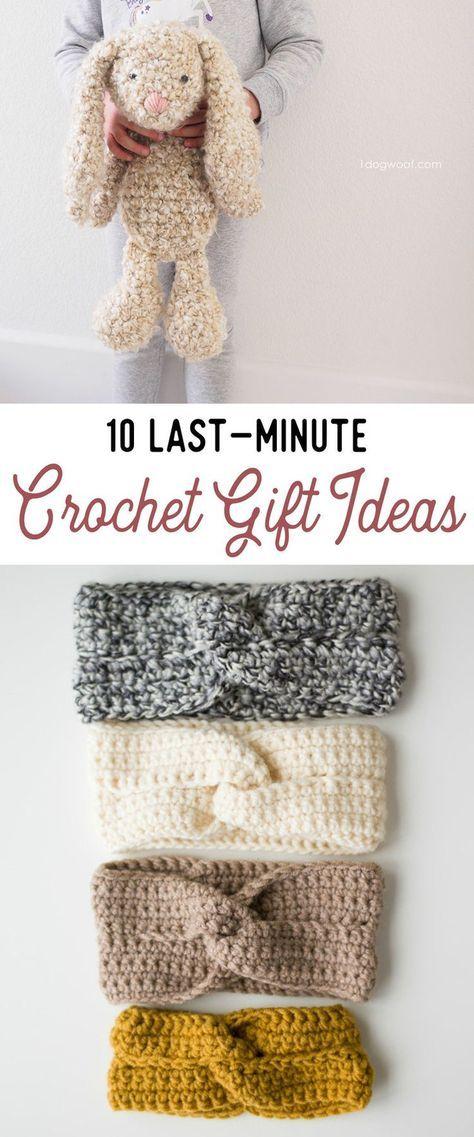 Diez ideas de regalo de ganchillo de última hora (¡todos los patrones gratuitos!)