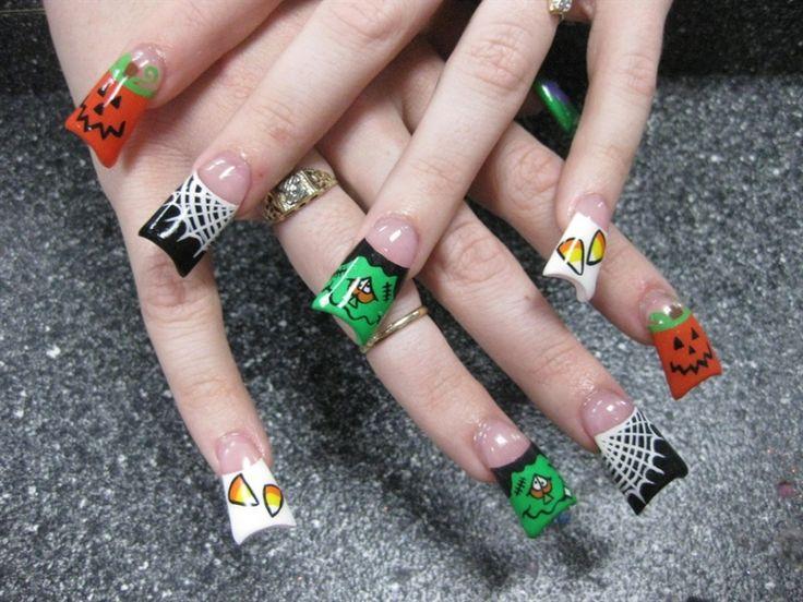 194 best Halloween Nail Art images on Pinterest | Halloween nail art ...