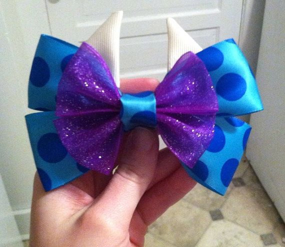 Sulley Monsters Inc. Inspired Bow by APrincessPrerogative on Etsy, $7.00