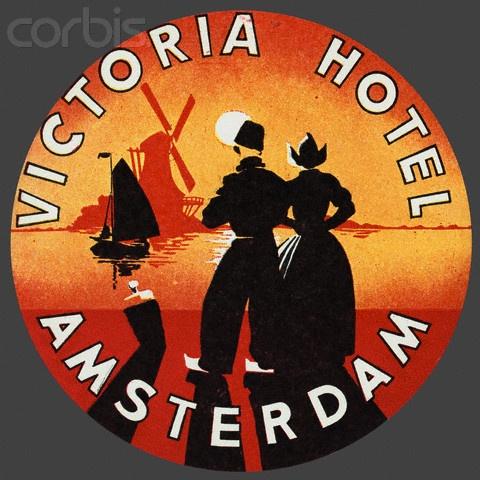 12-11-11  Victoria Hotel Amsterdam Luggage Label  Luggage label for the Victoria Hotel Amsterdam.
