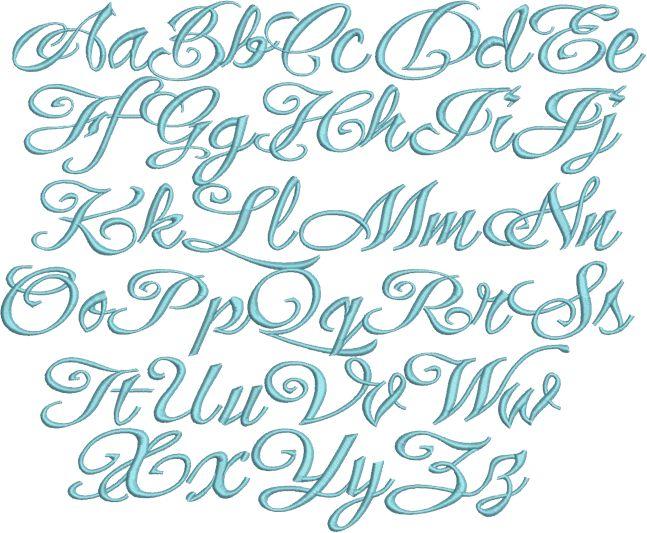 elegant fonts alphabet - photo #6