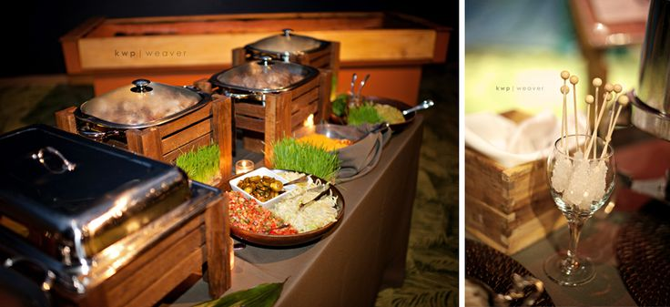Love The Wooden Boxes To Camouflage The Chafing Dishes