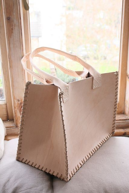 how to make a sturdy leather tote bag, and other leather techniques