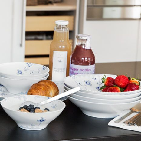 Royal Copenhagen Blue Elements breakfast