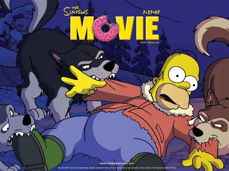 A representation of wolves from the Simpsons