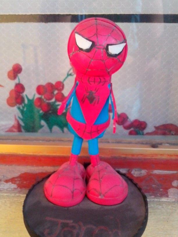 Spider man centro de mesa