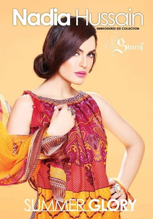 nadia hussain embroidered eid collection 2014
