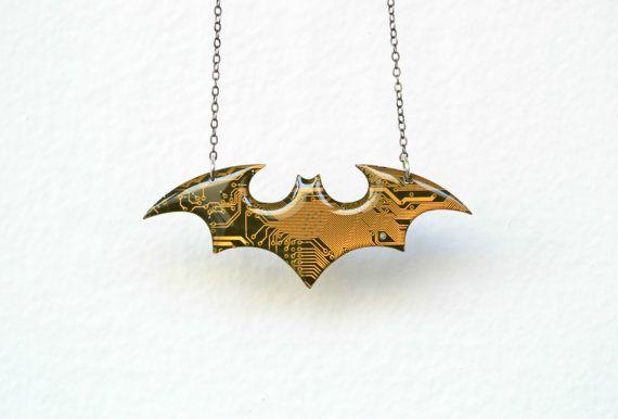 Batman Necklace  Superhero Dc Marvel Batman Jewelry  by HardResols
