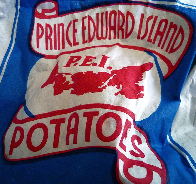 Spuds from the bright red mud