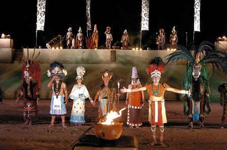 Ritual del Solticio de verano en Copan, Honduras