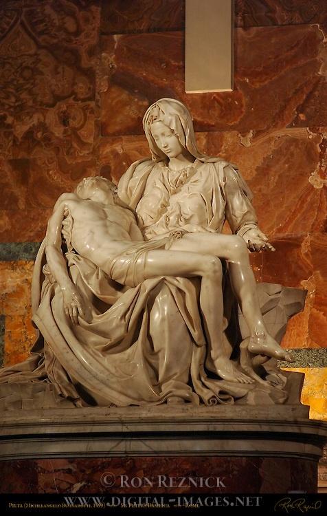Michelangelo's Pieta, St Peter's Basilica, Vatican City