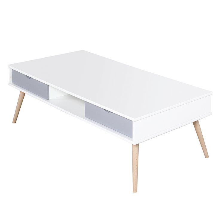 Couchtisch Stan - Weiß/Grau | Home24
