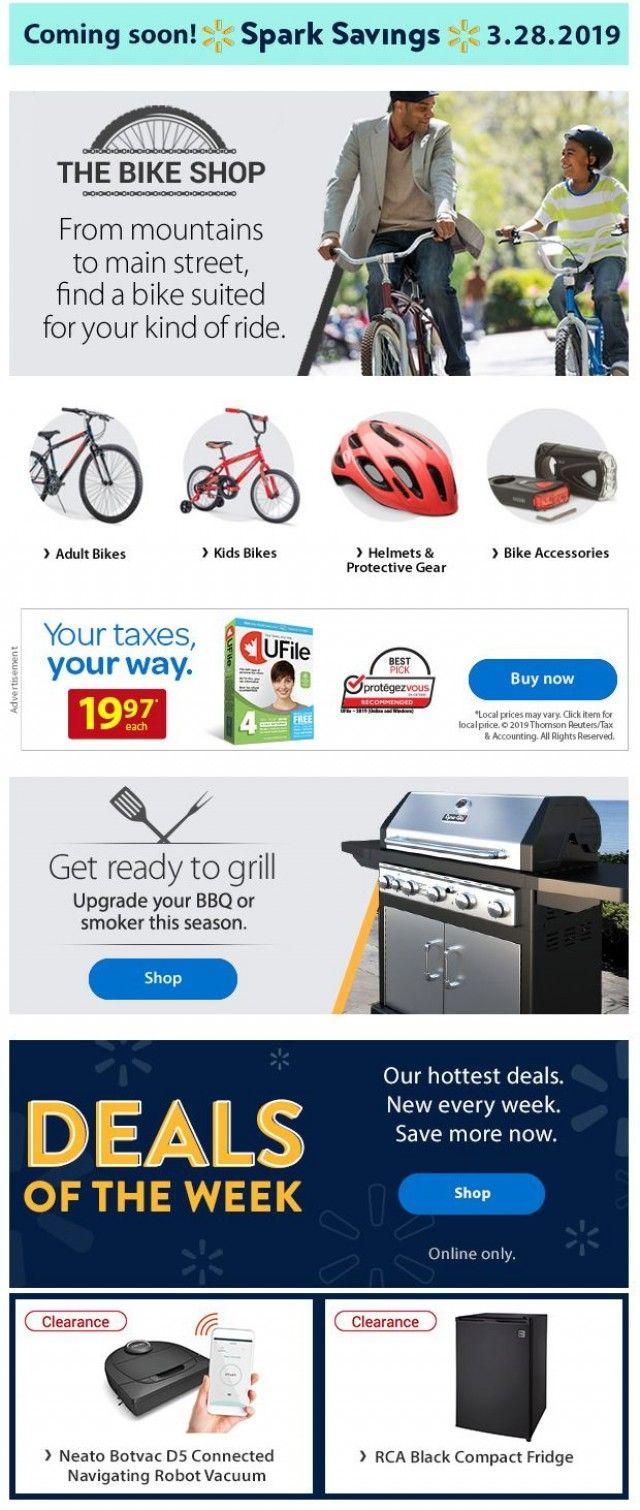 Walmart Canada Bikes Bbqs Deals Of The Week And More March 26 2019 Bbqs Kids Bike Helmet Kids Bike