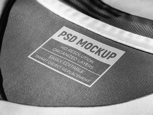 Download T Shirt Neck Label Mockup Screen Printed Logo Mockup On Fabric Logo Mockup Print Logo Screen Printing