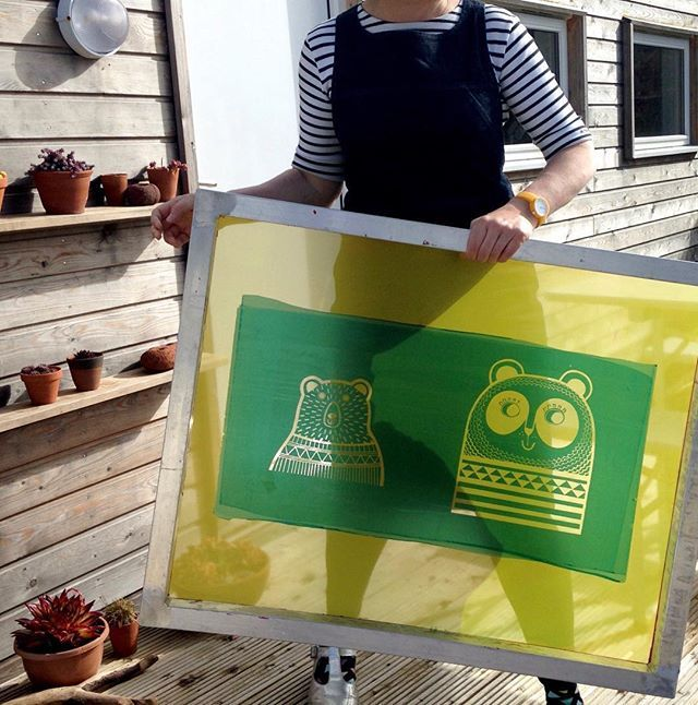 Am looking forward to doing some more screen printing soon - newly exposed screen! #janefoster #screenprinting #silkscreen