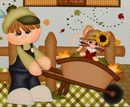ELITE4U PMBY JULIE premade fall child scrapbook pages for album paper piecing