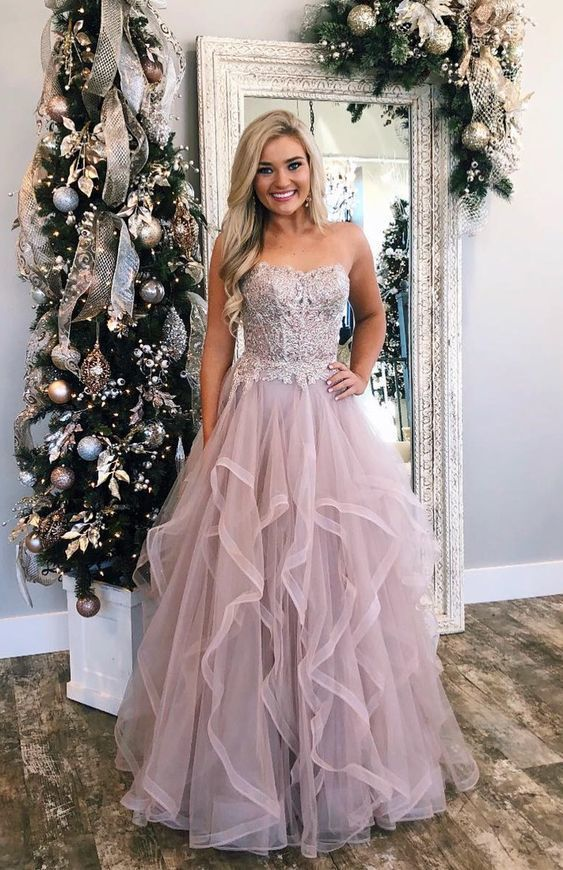e0acd46ff7 Gorgeous Sweetheart Champagne Long Prom Dress