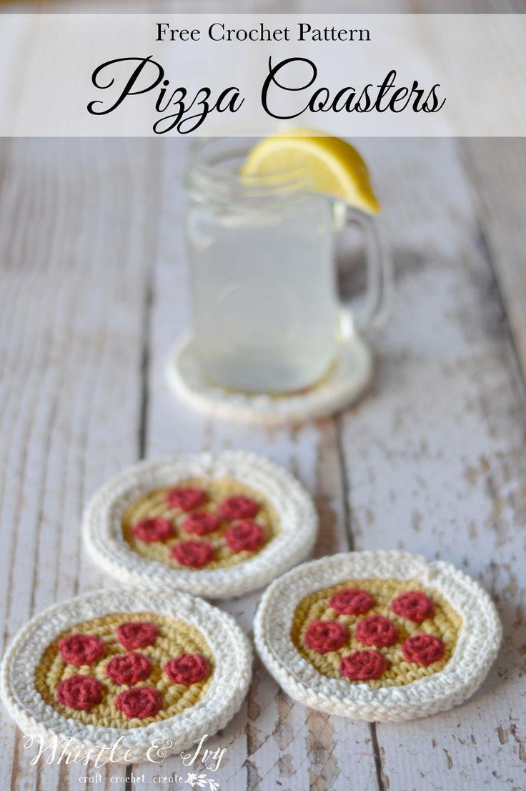 8 best crochet food patterns images on pinterest crochet crochet pizza coasters bankloansurffo Choice Image