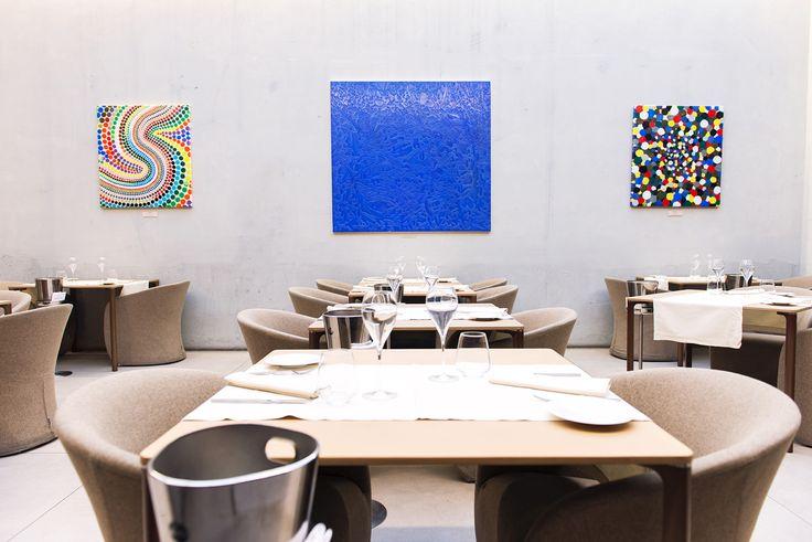 La sala Giardino d'Inverno è ideale per organizzare un evento privato o una cena aziendale, con una vista privilegiata sulla cucina.   #location #Larte #Milano #viaManzoni5