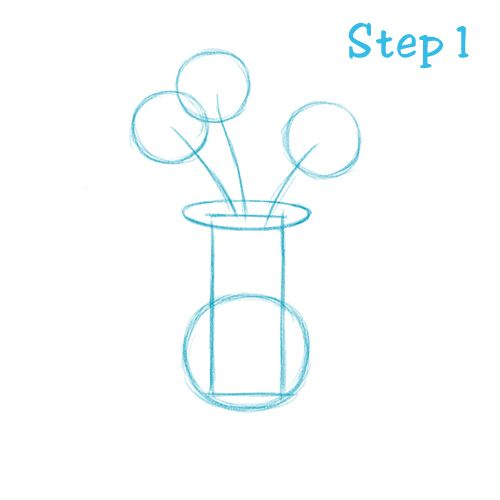 How To Draw Vase 1 Flowers And Trees Pinterest