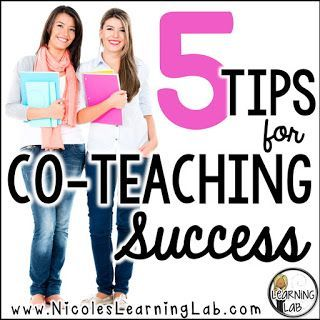 Tips for co-teaching in an inclusion classroom with a special education teacher and general education teacher.