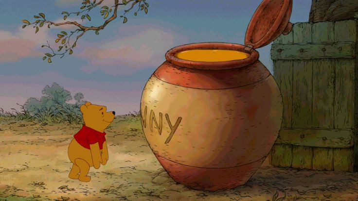 10 Disney Moments That Prove Love is Alive and Well  replace the honey pot with coffee and I am Pooh! (i know what I said....)
