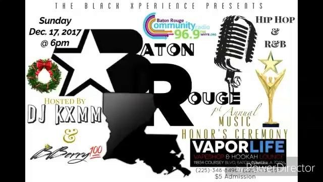 Tonight! Come Help @younggage Celebrate The Best Male Artist/King of 96.9FM Award The Black Xperience Presents: Baton Rouge Community Radio 96.9FM 1st Annual Honors Ceremony Hosted by @djkxmm x @bberry100__yoberryjamz Sunday December 17th 2017 Show Starts @ 6pm @vaporlifebr  www.YoungGageMusic.com  #YoungGage #YoungGageMusic #Clever #Creative #Conscious #PressurePoints #Rap #HipHop #Radio #Art #NewMusic #good #Lyrics #Vibes #exploretocreate #Love #Blessed #BatonRouge #NewOrleans #Louisiana…