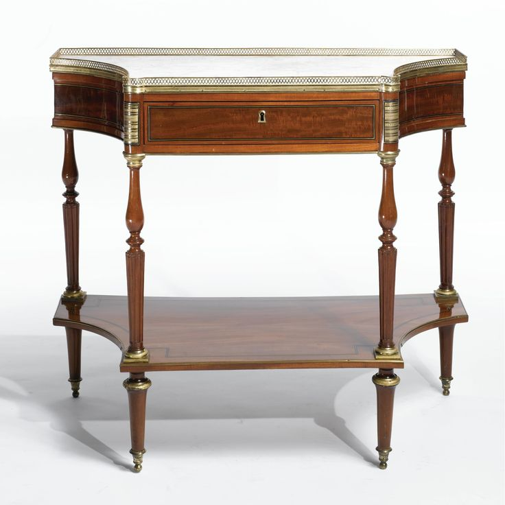 A Directoire ormolu and brass mounted mahogany console desserte br circa  1790. 830 best Furniture images on Pinterest   19th century  Antique