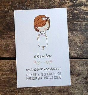 COMUNIONES INTHESKY.COM.AR #estampitascomunion #souvenirs #cosasbonitas #nenas #cute #beauties
