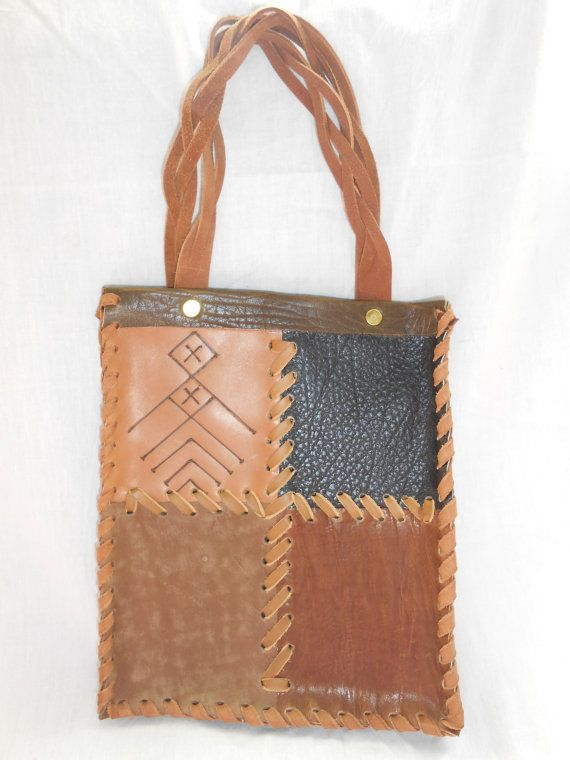 multi color leather bag by LughAislingCelticArt on Etsy
