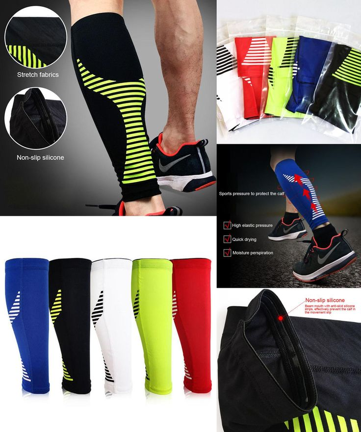 [Visit to Buy] 1PCS Cycling Running Leg Compression Sleeves Calf Non-slip Breathable Yoga Tennis Football Shin Guards Sports Safety  #Advertisement