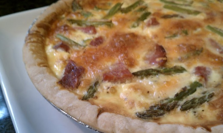 Asparagus, ham and cheese quiche. | Food Recipes | Pinterest