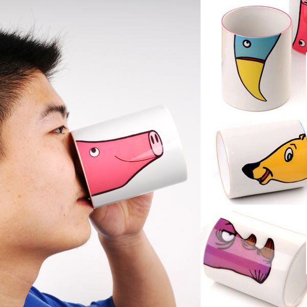 Creative #Promotional Item: Nose Mugs! These will make a huge impact because people will REMEMBER them!