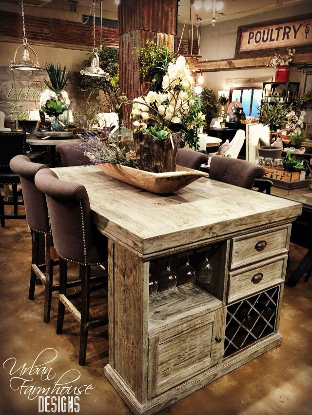 Best 25 farmhouse kitchen island ideas on pinterest for Country kitchen island designs