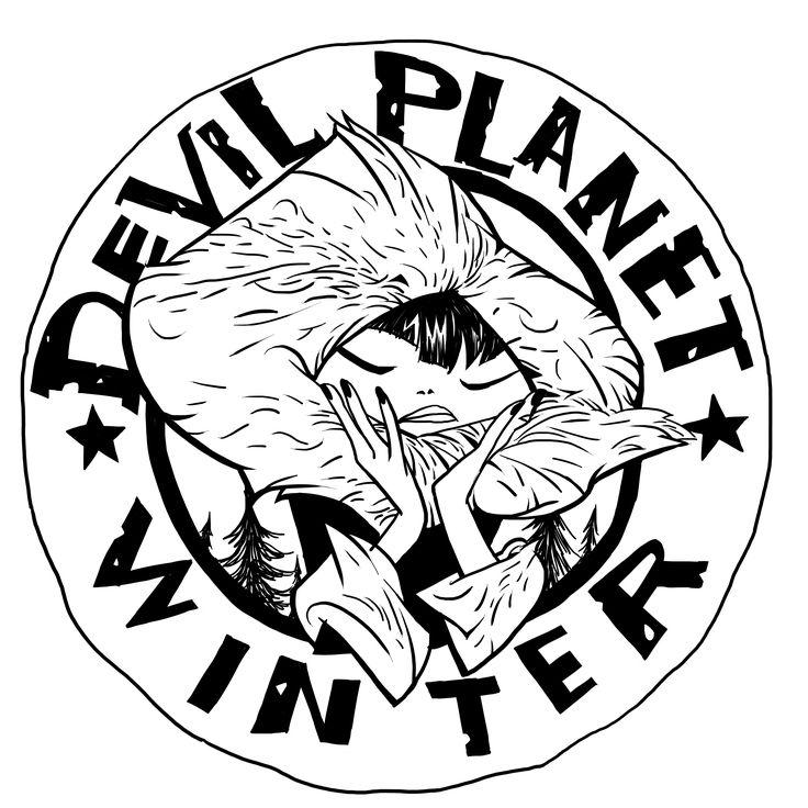 Devil Planet character winter. facebook.com/kanggoonart facebook.com/devilplanet #art #characterdesign #drawing #inking #eskimo #girl #sketch #ink #logo #devilplanet #kanggoon