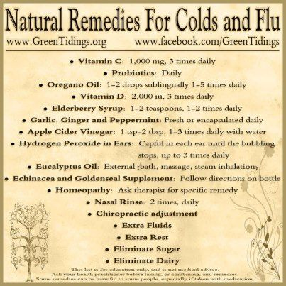 Natural Cold and Flu Remedies      when using hydrogen peroxide in ears it is recommended to dilute with water 50/50. Also if you do it just once full strength it cleans the ear out of all wax possibly causing an ear ache to prevent restore by using mineral oil or olive oil. 1-2 drop per ear, keeping head tilted after each ear to give time to get down in the ear canal.