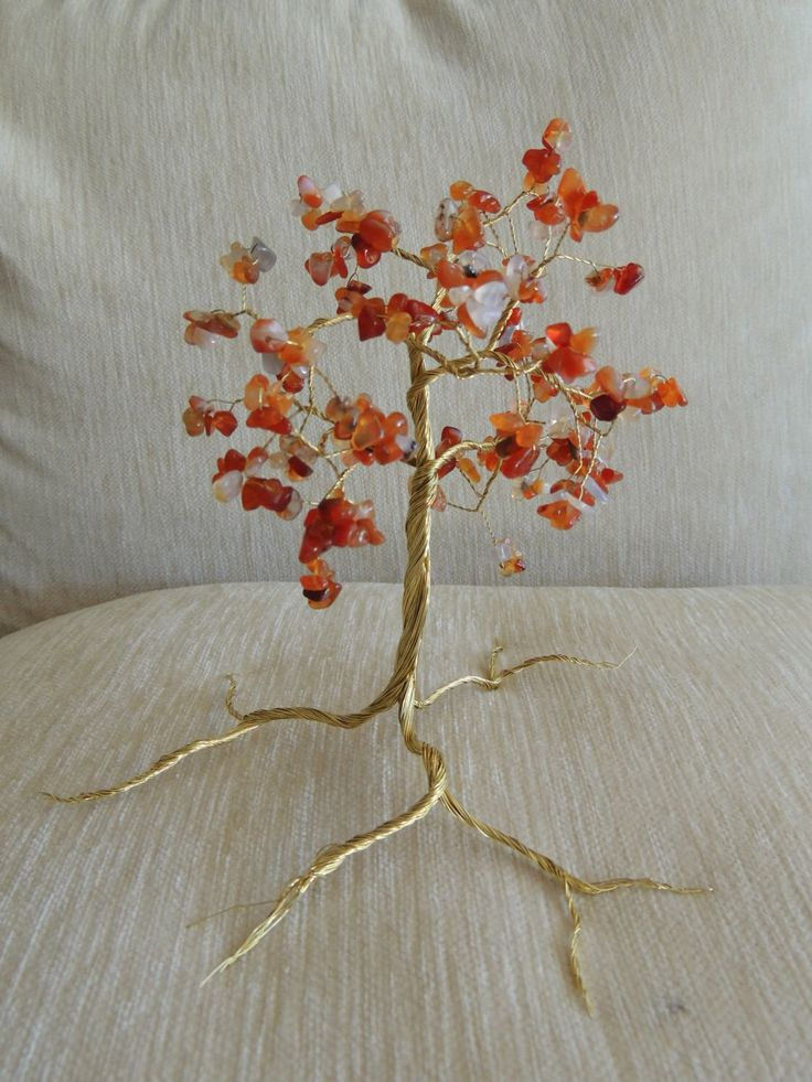 Carnelian gemstone wire tree by AbssOluto on Etsy https://www.etsy.com/listing/227025355/carnelian-gemstone-wire-tree