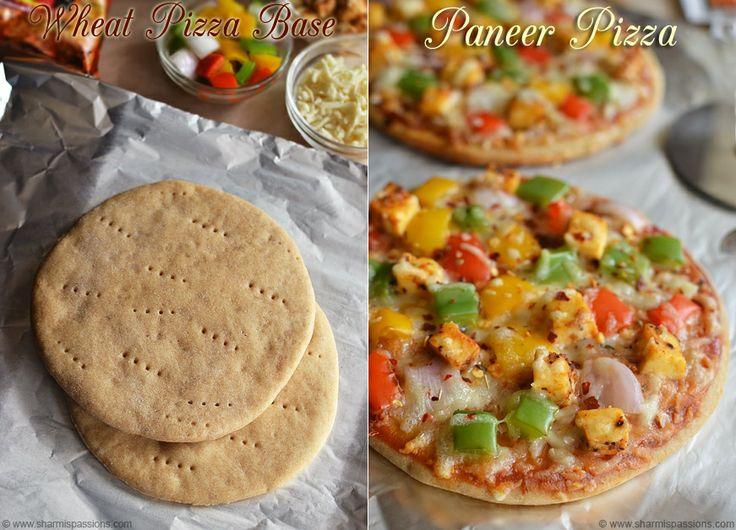 Whole Wheat Pizza Base Recipe - Homemade Pizza Dough Recipe