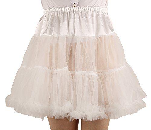 Shimaly Women's Princess Layered Puff Skirt Mini Tutu Skirt Short Petticoat  (S-M, Ivory)