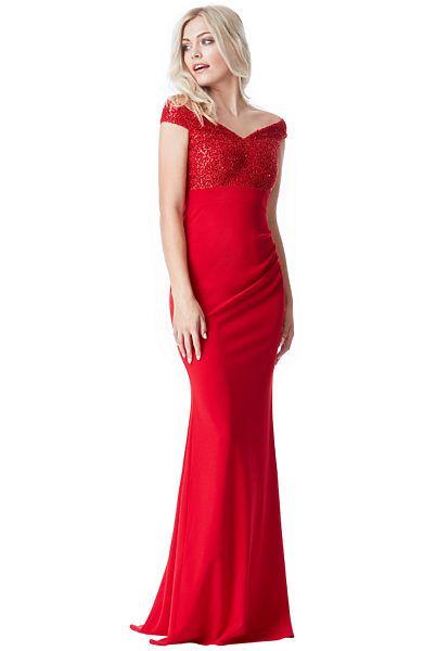 Červené plesové šaty City Goddess Sasha