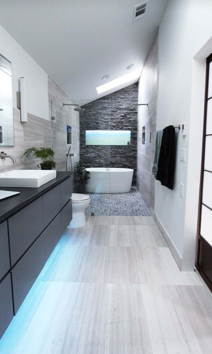 Cool Modern Gray Bathroom Design by Change Your Bathroom ...
