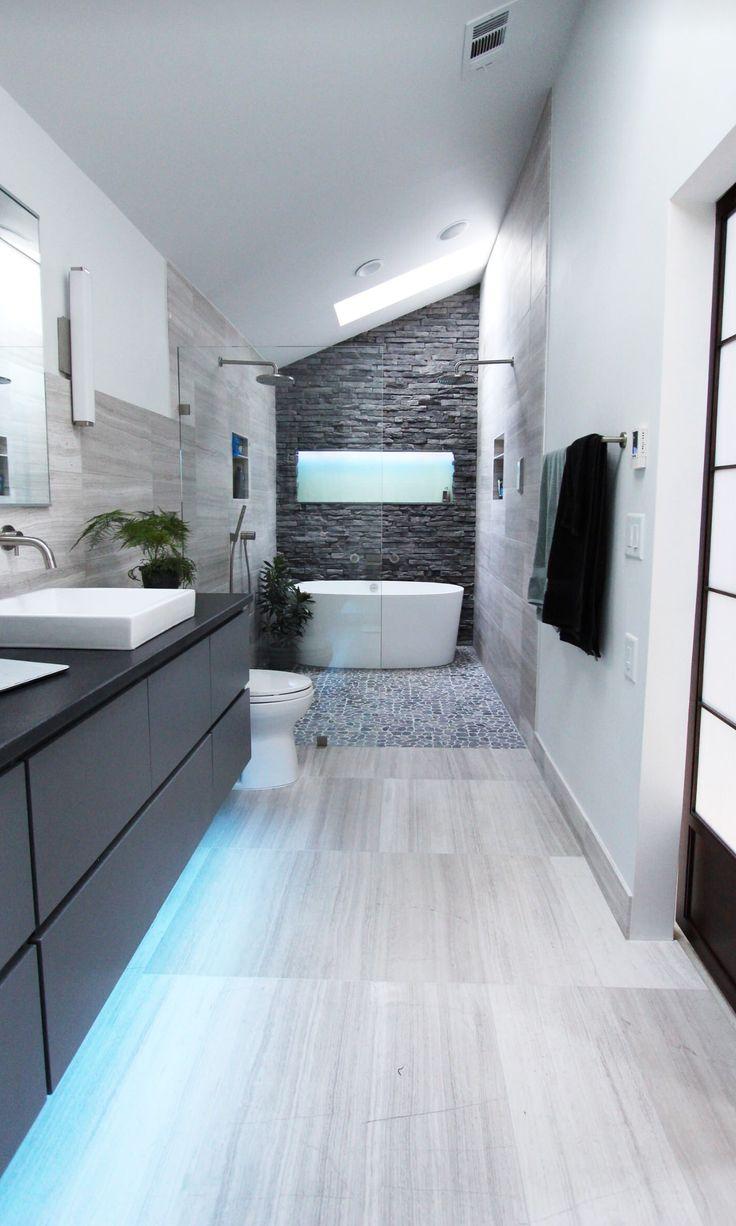 Cool Modern Gray Bathroom Design by Change Your Bathroom ...