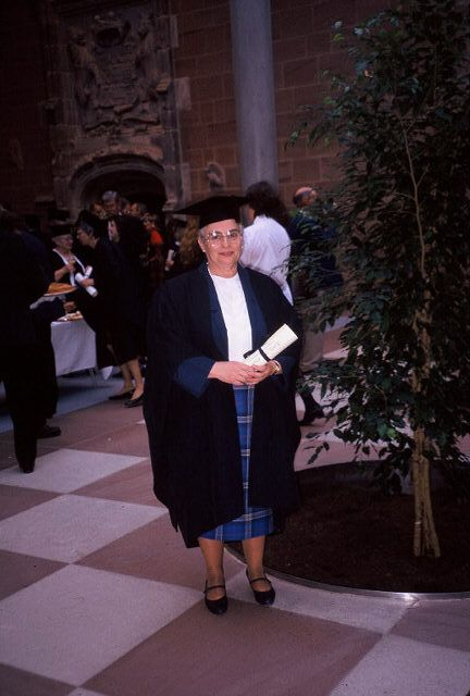 Glasgow at graduation for a ScotsMaster for Scottish Tourist Board, 1995
