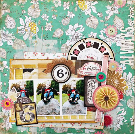 Amazing scrapbook layout created using our DIY Shop Collection. #cratepaper #scrapbooking #papercrafts